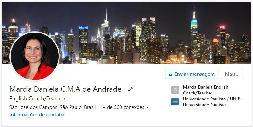 LinkedIn Márcia Daniela - Na Rota da Fluência